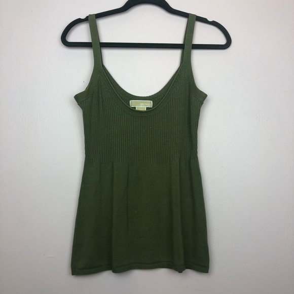 Michael Kors Tops - Michael Kors Ribbed Sweater Tank Size M